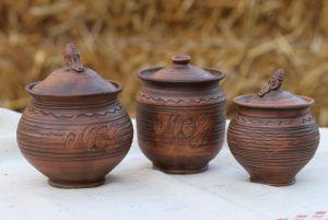 Керамика ручной работы Горшки соль, сахар, мед