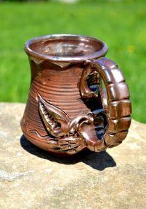 Керамика ручной работы Бокал скорпион