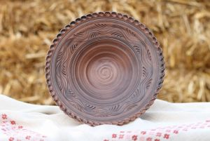 Керамика ручной работы Тарель для фруктов и десерта