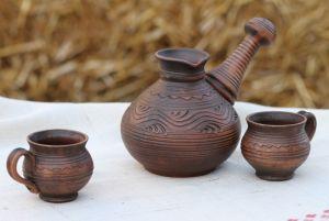 Керамика ручной работы Турка с чашками