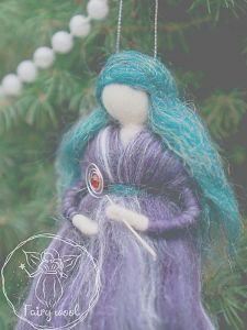 Куклы ручной работы Сказочная лесная фея с голубыми волосами