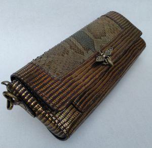 Жіночі клатчі ручної роботи Ексклюзивна шкіряна сумка, шкіра пітона