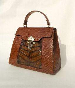 Сумки ручної роботи Ексклюзивна сумка зі шкіри пітона та крокодила