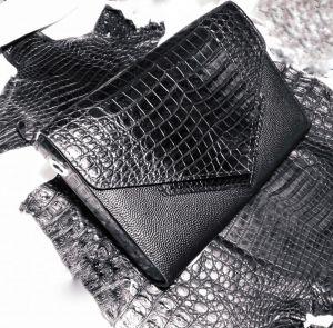 Женские клатчи ручной работы Клатч из кожи крокодила