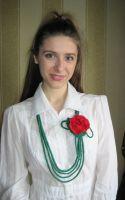 """Ожерелье """"Дикая роза"""""""