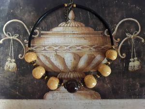 Колье из керамики Керамическое