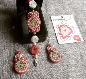 Вироби зі шкіри ручної роботи Комплект Рожевий