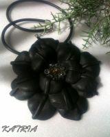 """Кулон """"Черный цветок"""""""