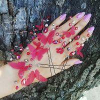 Шпильки для волос с бабочками