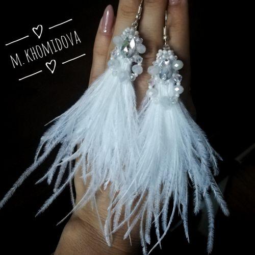 Красиві весільні сережки