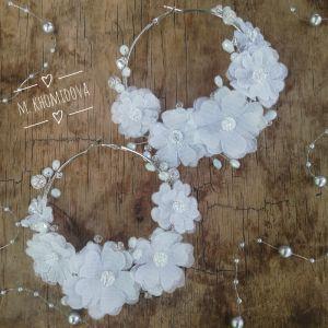 АртБутік Красиві весільні сережки - кільця