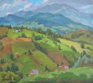 Нарисованные картины Лето в Карпатах