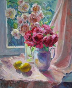 Храмова Надежда Натюрморт с розами
