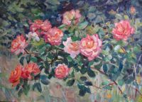 Троянди в садку