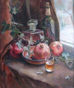 Картини маслом Молоде вино