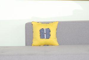 Подушки ручной работы Геометрия (желтая)