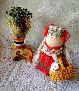 Куклы ручной работы Пасхальная кукла мотанка