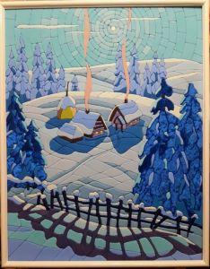 """Нарисованные картины """"Зима"""""""