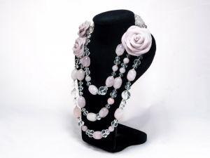 """Ожерелье """"Розовый сад"""""""