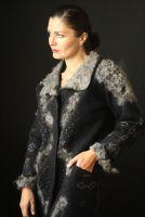 Пальто цельноваляное,ручной работы