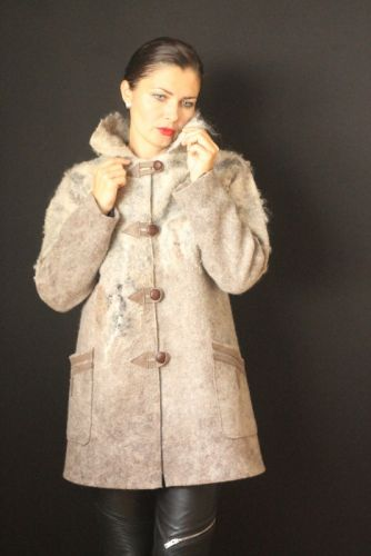 Пальто цельноваляное, ручной работы - изображение 1