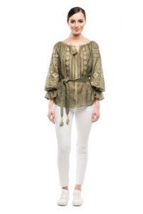 """Вишиті жіночі сорочки ручної роботи Вишиванка з геометричним орнаментом """"Соломія"""""""