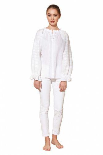 "Блуза вышиванка белая ""Однотонная"""