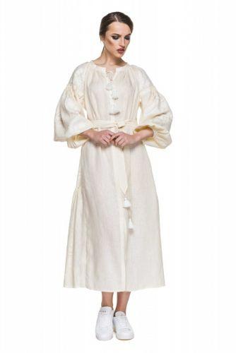 "Платье вышиванка молочная ""Сабина"""