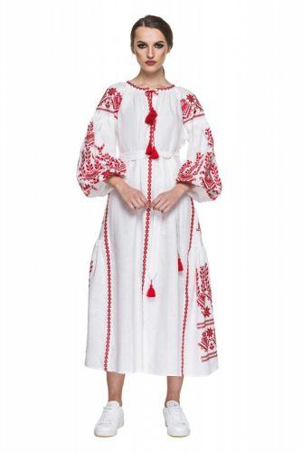 """Платье вышиванка белая """"Агния"""""""