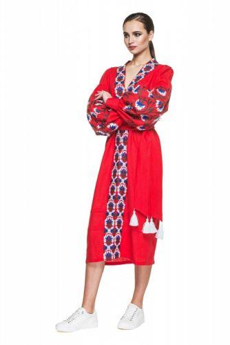 Купити Сукня вишиванка червона