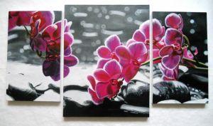 """Мальовані картини Триптих """"Орхідеї"""""""