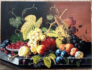 "Кочержат Оксана Картина ""Натюрморт с фруктами"""