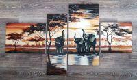 """Полиптих """"Африканские слоны"""""""