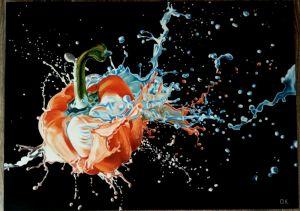 """Нарисованные картины Картина """"Перец в краске"""""""