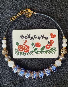 Ожерелье ручной работы Снежное небо
