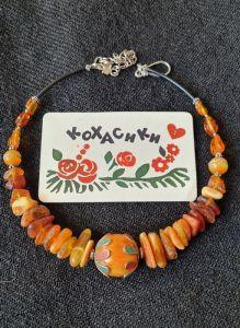 Ожерелье ручной работы Янтарная вкусняшка