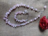 Комплект из розового кварца