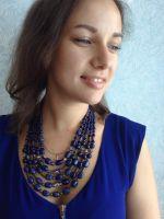 Ожерелье из синего лазурита