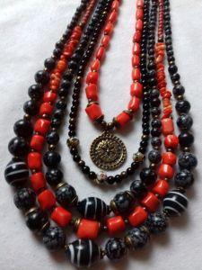 Ожерелье из коралла Ожерелье к Борщевской вышиванке