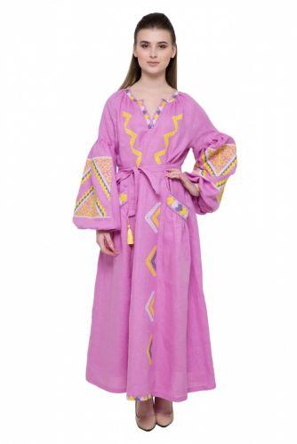 Купити Сукня вишита «Вирій» рожева DVAC132 на UkrainArt 35973ac4a65b4