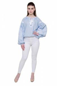 """Вышиванки женские Рубашка """"Морозец"""" голубая"""