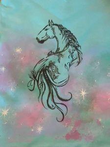 """Еко сумка ручної роботи Сумка - тоут """"Зоряний кінь"""""""