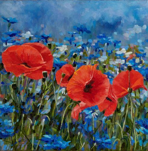 В голубых росах