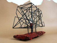 Дизайнерская настольная лампа с сочетанием дерева и железа. Industrial style. Ручная работа
