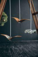 Деревянный светильник, дизайн птицы. Ручная работа. Дизайнерская люстра (размер птицы стандарт В)
