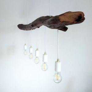 Лампи Підвісна дерев`яна люстра з дубовим навісом. Cучасний дизайн. Ручна робота