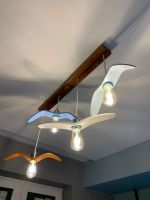 Деревянный светильник в виде крыла птицы в цвете в детскую комнату. Ручная работа. Детский светильник (размер птицы стандарт и больше). Дизайн на заказ