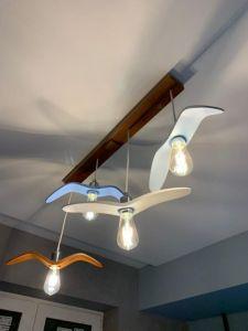 Лампи Дерев`яний світильник у вигляді крила птаха у кольорі в дитячу кімнату. Ручна робота. Дитячий світильник (розмір птаха стандарт та більший). Дизайн на замовлення
