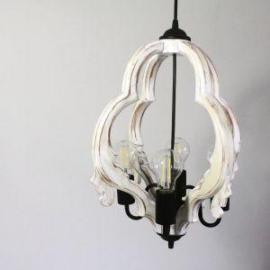 Лампи Дерев`яна вінтажна люстра. Підвісний світильник ручної роботи