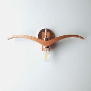 Лампи Дерев`яний настінний світильник. Бра підвісна пташка Ручна робота та оригінальний дизайн